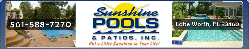 Sunshine Pools & Patios Lake Worth, FL 33460 pool remodel, repair